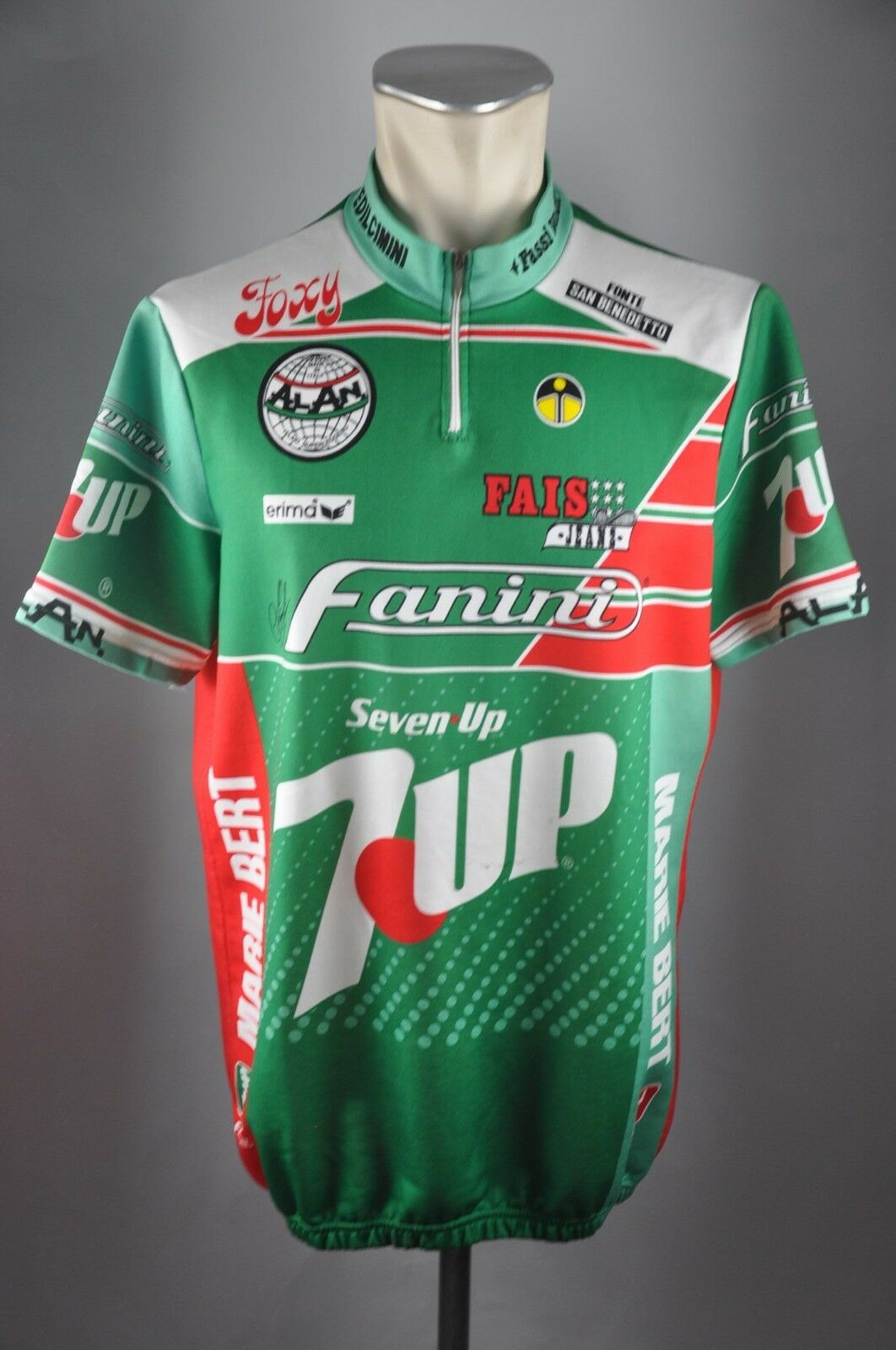 Erima Fanini 7UP Bike Rad Trikot Gr. 7 XL 58cm jersey Fahrrad cycling N1