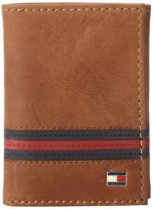 Tommy-Hilfiger-Men-039-s-Leather-Credit-Card-ID-Wallet-Trifold-Tan-31TL11X028