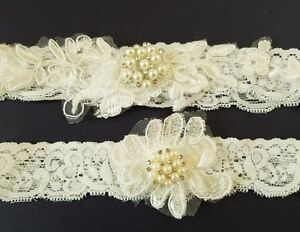 fda527982 Image is loading Wedding-garter-Bridal-Garter-Set-OFF-WHITE-LACE-