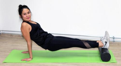 3 in 1 Pilatesrolle black 46//15 cm Yogarolle Pilates Yoga Rolle MASSAGEROLLE