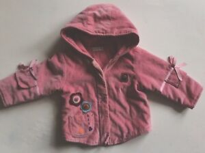 494be2a913ef Girl s MAMAS AND PAPAS velvet coat. Age 3-6 months. Autumn  Winter ...