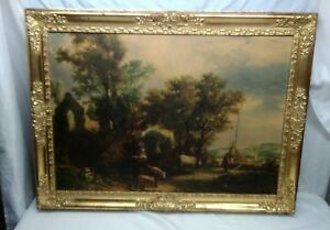 Image Is Loading Large Vintage Ornate Wood Gold Gilt Picture Frame