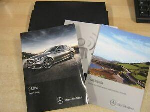 mercedes c class saloon owners manual handbook pack 2013 2017 rh ebay co uk 2013 Mercedes-Benz C-Class Review 2013 C-Class Interior