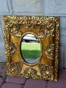Mirror baroque style small gold ebay for Small baroque mirror