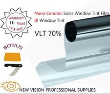 IR Window Tint Nano Ceramic Solar Film VLT70% 50cmX3m IR Reduction 90%