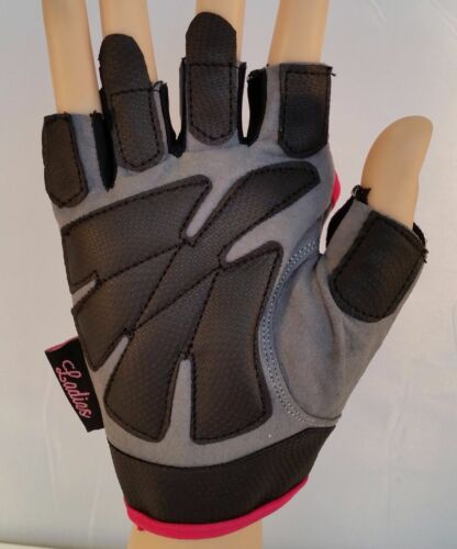 New Weight Lifting Gym Workout Gel Padding Pro Amara Leather Women's Gloves