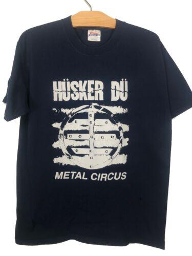 Vintage 1990's Navy Husker Du Metal Circus T-Shirt