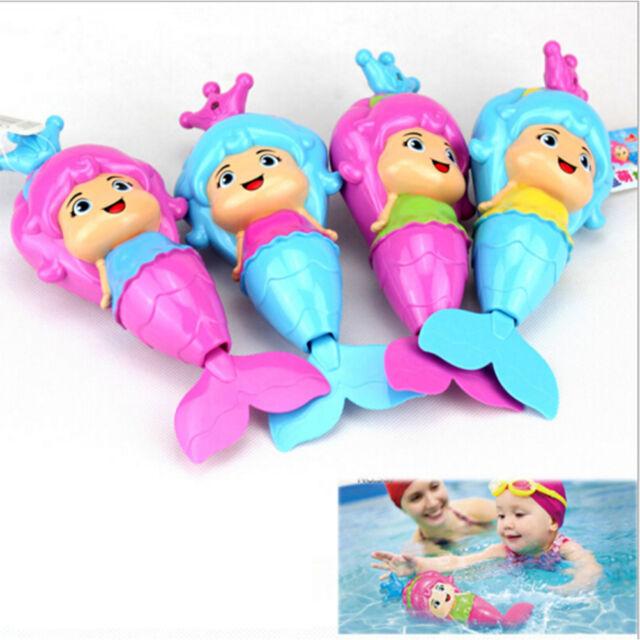 Baby Mermaid Clockwork Dabbling Bath Toy Classic Swimming Water Wind UpE9C
