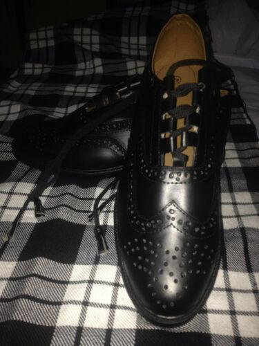 Chaussures Royaume Kilt Ghillie uni Brogues Ecossaises Cuir fSE5qE