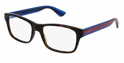 4bab0b5b2312 *NEW AUTHENTIC* GUCCI GG0006O 007 HAVANA/BLUE EYEGLASS FRAME, SIZE 55mm |  eBay