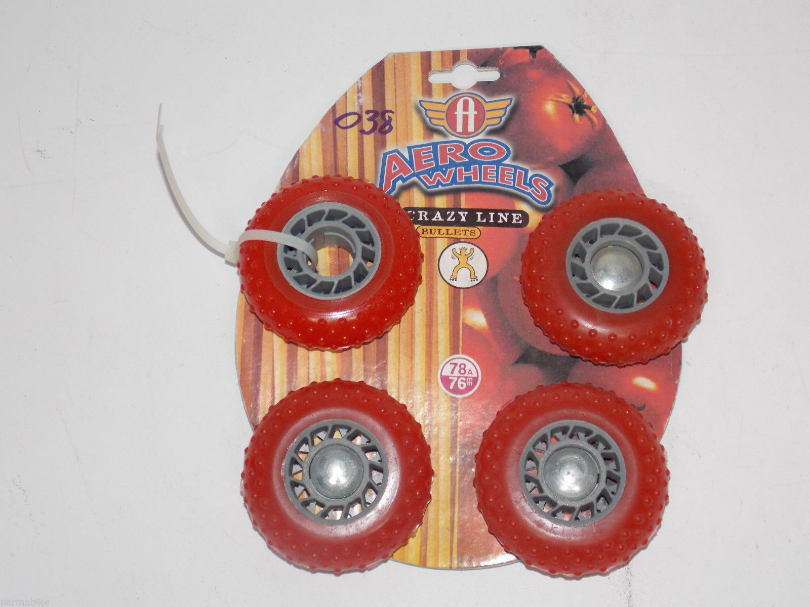 1980'S NEW 4 AERO WHEELS 78A 76MM ROLLER SKATE ROLLER 76MM BLADES IN LINE SKATING af043d