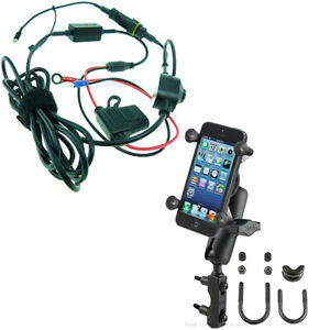 new style a5511 af80c Details about Motorcycle Mount for iPhone 7 Plus & High Powered Hard Wire  Charger