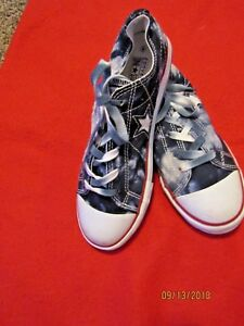 9757d88ed86b8f Converse One Star Lace Up Tie Dye Polo Blue Fade White Size 6 ...