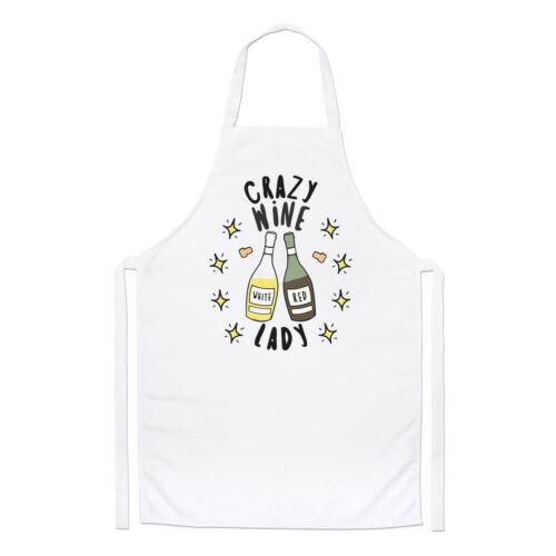 Crazy vin LADY STARS Chefs Tablier drôle blague ivre Maman Mères Jour Cuisine
