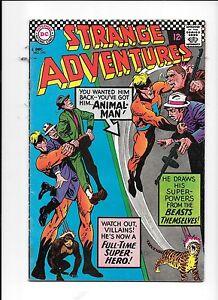 Strange-Adventures-195-December-1966-1st-full-Animal-Man-in-costume