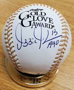 Autographed OZZIE GUILLEN Rawlings Official Gold Glove Major League Baseball