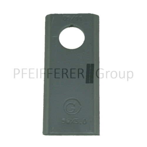 Cuchillas 25 STK kreiselmäher 96x40 mm forma 1 F Claas V-nº 06561542