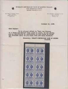 A6058-10-1948-Quo-Warren-Presidenziale-Etichette-Lettera