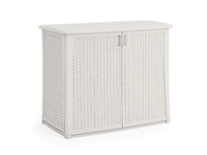 Incredible Details About Storage Deck Box Outdoor Container Bin Chest Patio Suncast White Wicker Cabinet Best Image Libraries Weasiibadanjobscom