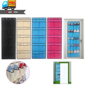 Image is loading 20-Pockets-Shoe-Organizer-Rack-Hanging-Storage-Space-  sc 1 st  eBay & 20 Pockets Shoe Organizer Rack Hanging Storage Space Saver Hanger ...