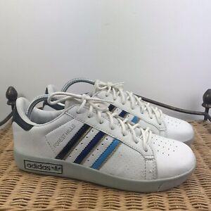 Dettagli su Men's Adidas Originals Forrest Hill In Pelle Scarpe Da Ginnastica Bianche UK6.5 EU 39 mostra il titolo originale