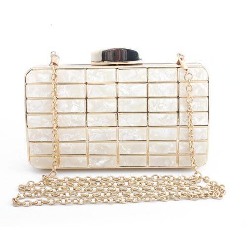 Magic Wallet Evening Bag Clutch Shells Acrylic Women Shoulder Crossbody Handbag