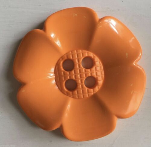 Orange 63mm Large Daisy Flower Feature Button