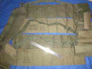 Lot-x-4-OD-munitions-cartouchiere-annees-1970-SOG-US-Forces-speciales-Guerre-du-Vietnam-7081