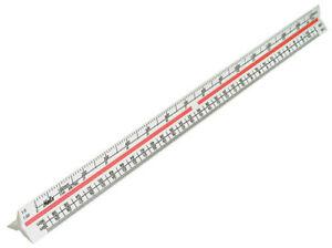 HELIX-300mm-30cm-Triangular-Metric-Scale-White-Plastic-Solid-Base-Ruler-K93070