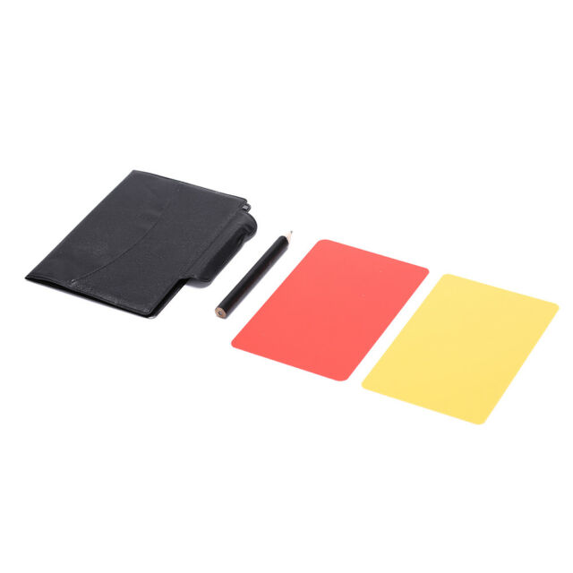 Professional Soccer Referee Wallet Football Red Yellow Card Pencil Log BookRASK
