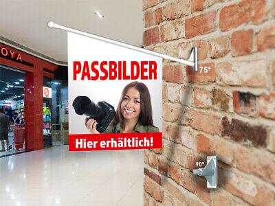 WunderschöNen Werbefahne Passbilder - Kioskfahne, Fahnenset Komplett - Passfotos, Ausweis