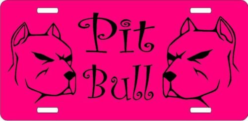 pit bull plastic license plate