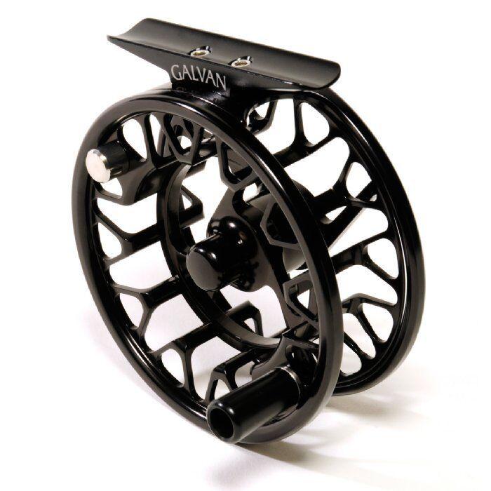 Galvan Brookie 4 5 Fly Reel-Color Negro-Nuevo