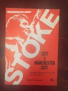 Stoke City v Manchester City programme 197374 - Wigan, United Kingdom - Stoke City v Manchester City programme 197374 - Wigan, United Kingdom