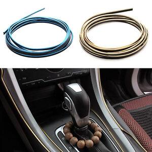 Rollo-Tira-Metalizada-Decorativa-Molduras-Puerta-Radio-Coche-4Colores