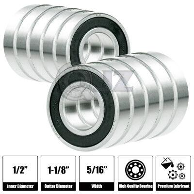"""60pcs R8-2RS Black Rubber Ball Bearing Bearings R8RS 1//2/"""" x 1-1//8/"""" x 5//16/"""""""