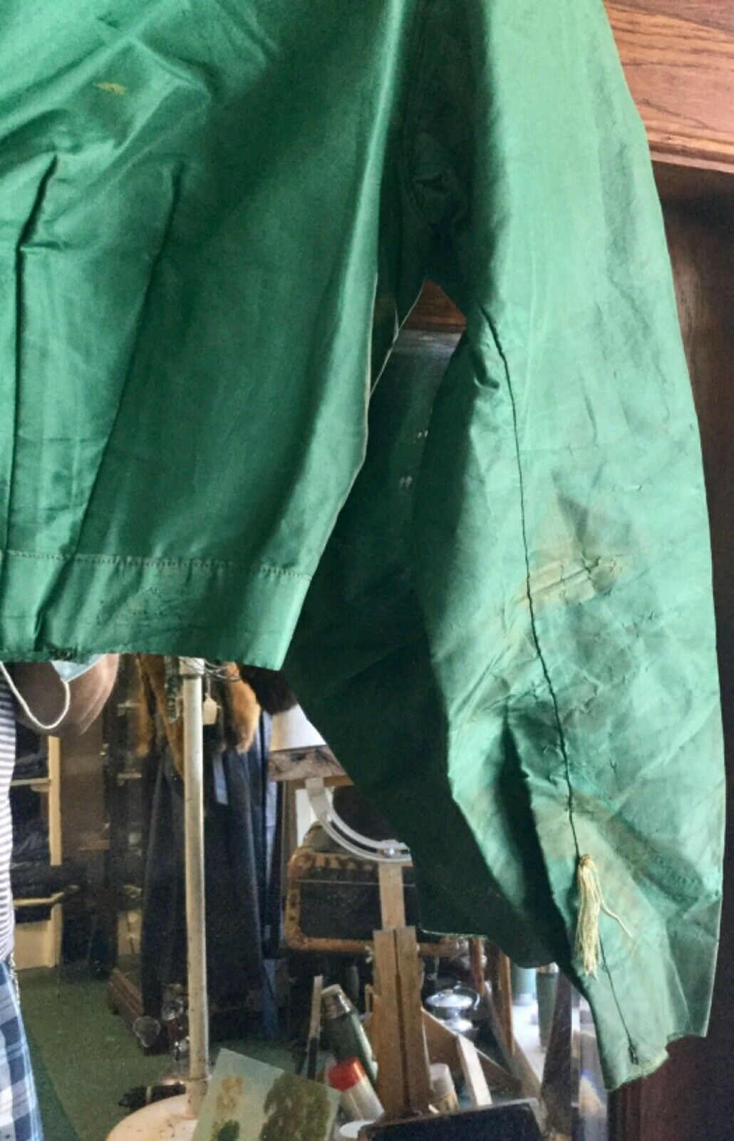 Antique Victorian1860s Green Bodice Blouse  - image 4
