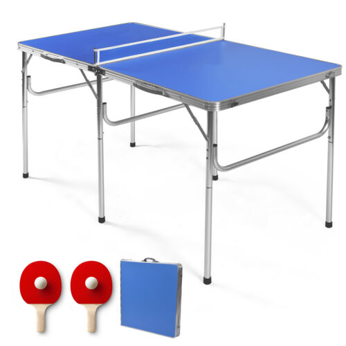 """60/"""" Portable Table Tennis Ping Pong Folding Table w//Accessories Indoor Game"""