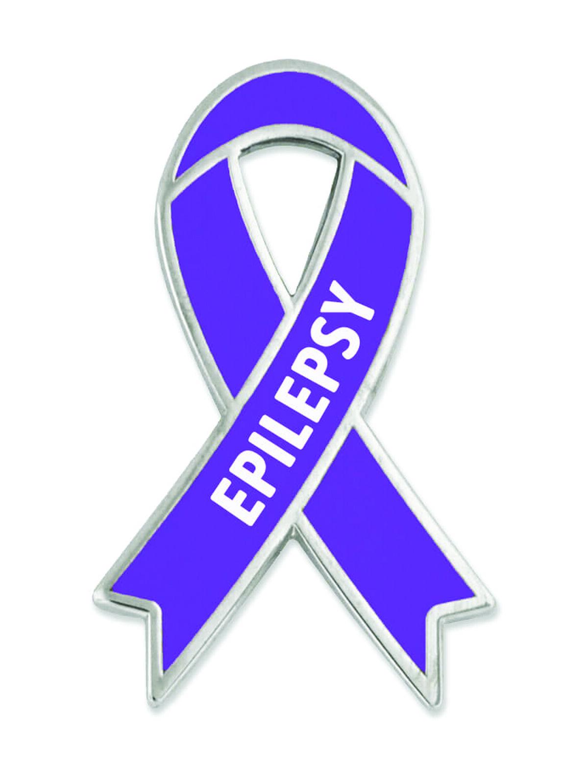 45d8b2f0c86 PinMart s Epilepsy Purple Awareness Ribbon Enamel Lapel Pin ...