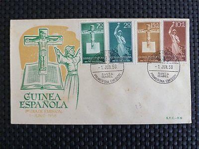 Briefmarken Logisch Guinea Espanola Fdc 1958 Christian Jesus Kreuz Cross Crucifix Missionar C4151 Schrecklicher Wert