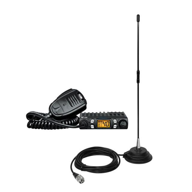 CB CRT One radio station kit with S-Meter, 4W, ASQ, 12V, RF Gain, SWR meter, Sca