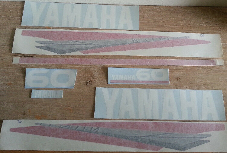 Yamaha 60 two stroke outboard motor cowl stickers decals