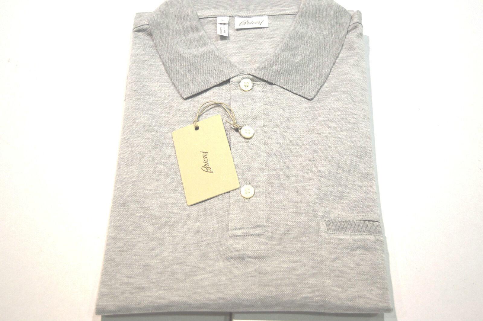 NEW  BRIONI Polo  Short Sleeve Cotton Größe XL Us Eu 54 (Pocket)