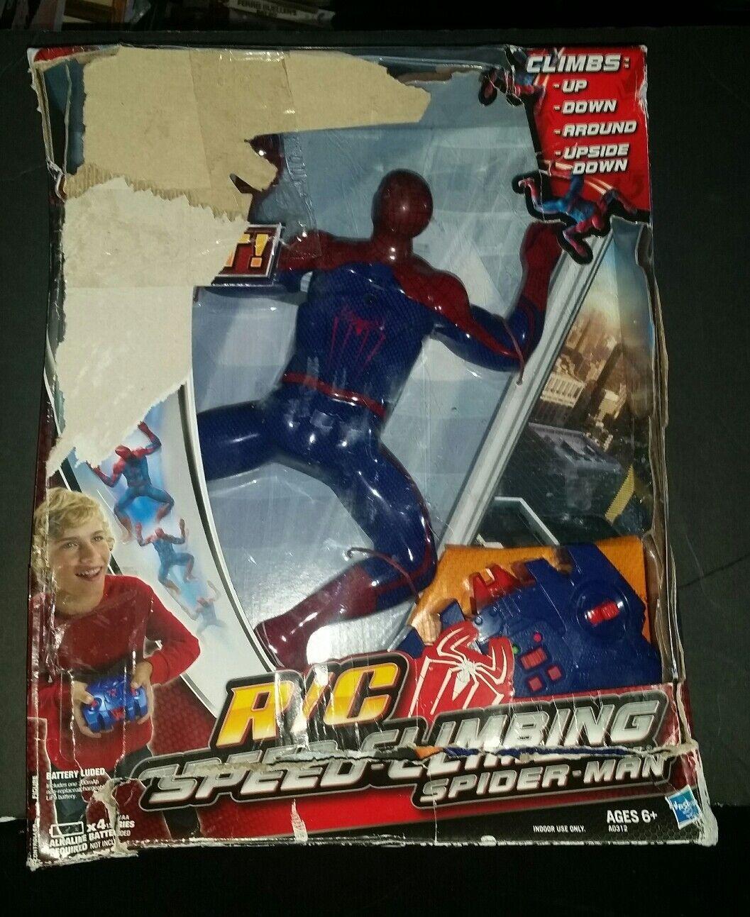2012 Hasbro Spider Climbing Spiderman Parojo De Control Remoto Man Raro Coleccionable