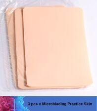 3 Pcs x Microblading Practice Latex Skin