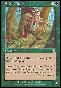 Rare Card  ELVISH PIPER  Never played MTG Magic 1 x  8th Edition Core