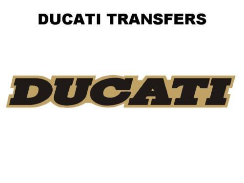 Ducati Tank Transfer Decal Size 170x25mm DD502 Gold Black
