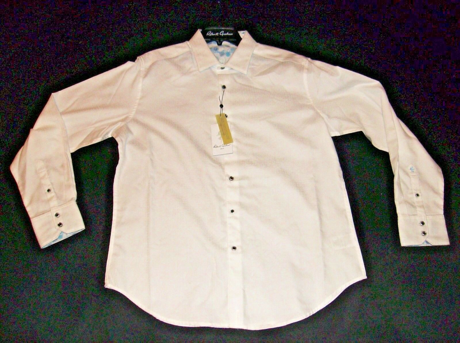 Robert Graham NIAGARA White  Large NEW NWT Classic Fit  Free Shipping L