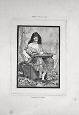 Stampa antica LA BALLERINA SALOME' antico testamento 1885 Old print
