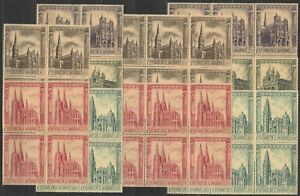 DEALER-STOCK-SAN-MARINO-MNH-Nuovi-1967-Cathedrals-5v-10-SETS-s32632